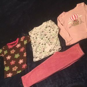 Girls 3xPJ tops/pant bundle, 4